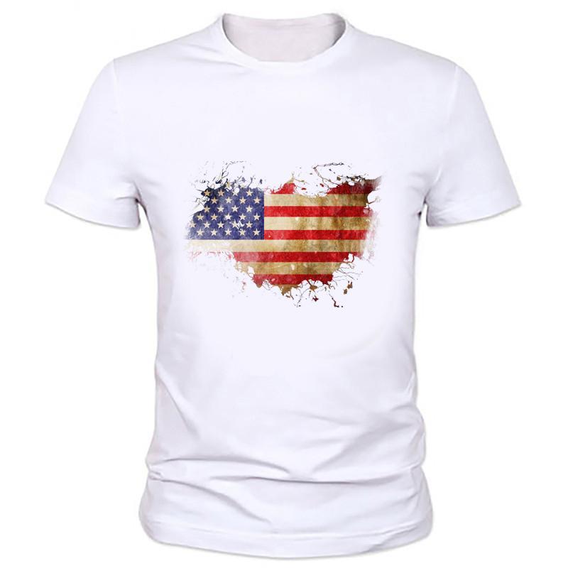 4a9a1f10b3e 2016 New Flag USA TShirt Men Fashion American Flag Printed Men Slim Fit O  Neck Brand Boy T Shirt 47Z 1  Cheap T Shirts Online Biker T Shirts From  Liqyi0304