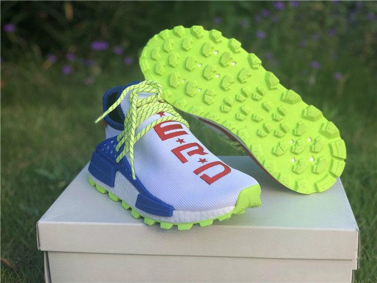 8b4155e3f4202 2018 Newest Release Pharrell Williams PW HU NMD NERD CREME White Blue Red Men  Women Running Shoes Sneakers Sport Come With OG Box EE6283 Best Shoes For  ...