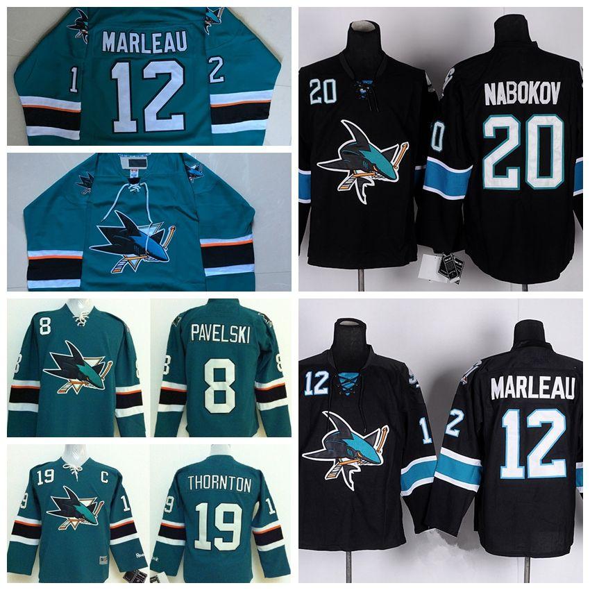 San Jose Sharks Hockey Jerseys 8 Joe Pavelski 12 Patrick Marleau 19 ... fa3049843