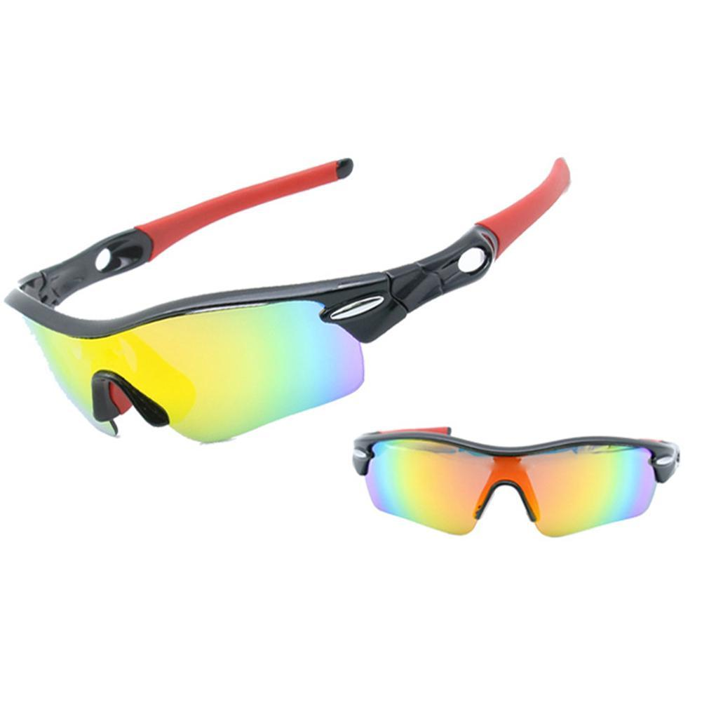 019b94e0bbc 2019 Polarized 5 Lenses Windproof Riding Glasses Set For Sports Fishing  Mountaineering Running Night Vision UV Protection From Ahaheng
