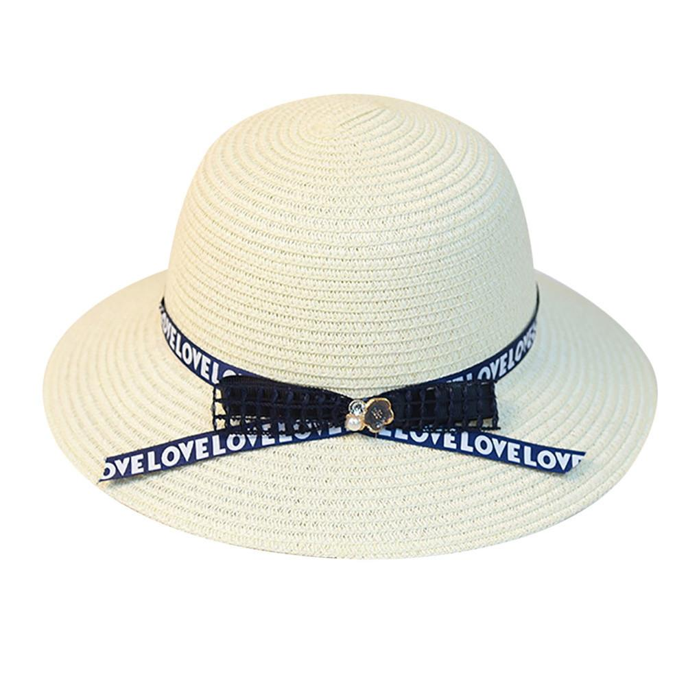 bbb19c4a Women Beach Straw Hat Jazz Sunshade Panama Trilby Fedora Hat Gangster Cap  Lady Boater Sun Caps Ribbon Round Flat Top Straw Beach Sun Hats Sun Hat  From ...