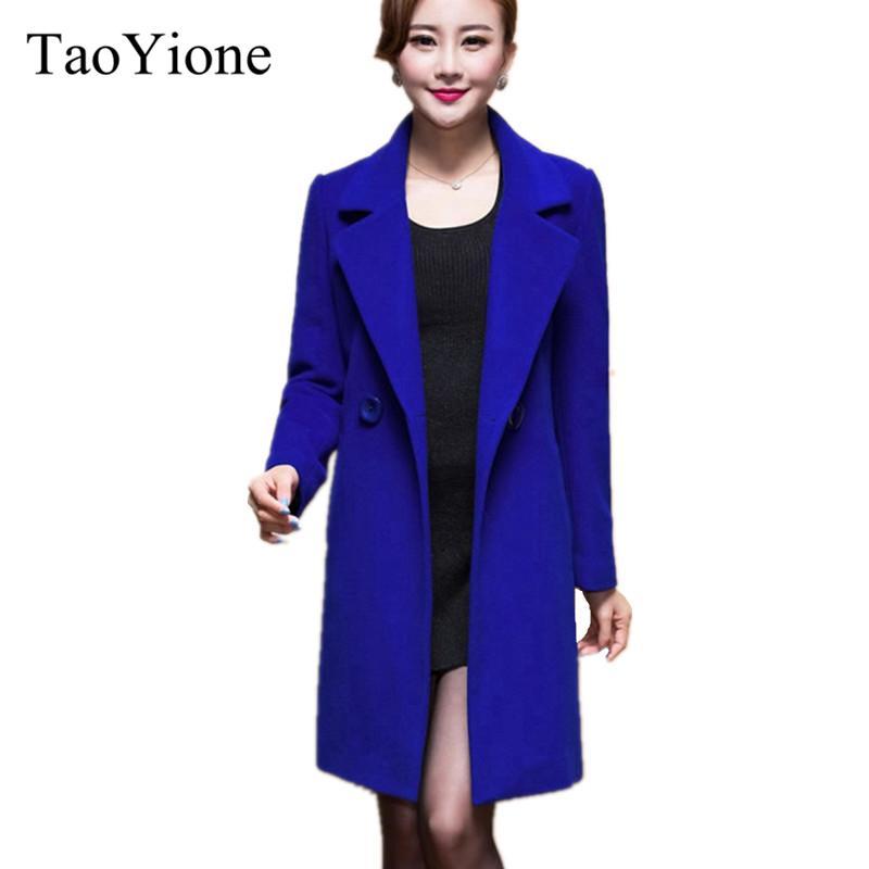 608ee467a002c 2019 2017 New Fashion Women Woolen Coats High End Elegant Long Slim Women Winter  Jacket Royal Coats&Jackets Plus Size Femininos M 4XL From Sikaku, ...