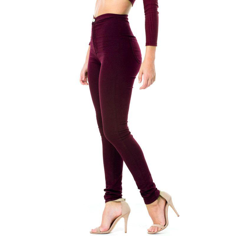 c4d7816d55b Acheter Mode Nouvelle En Gros Femme Denim Crayon Pantalon Top Marque  Stretch Jeans Taille Haute Pantalon Femmes Taille Haute Jeans Femme De   31.88 Du ...