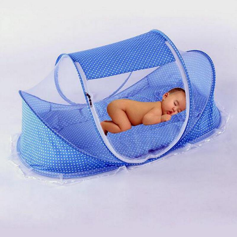 Portable Folding Toddler Baby Mosquito Netting Pillow Set Easy Carrying Infant kids Mosquito Bed Net MongolianYurt Crib
