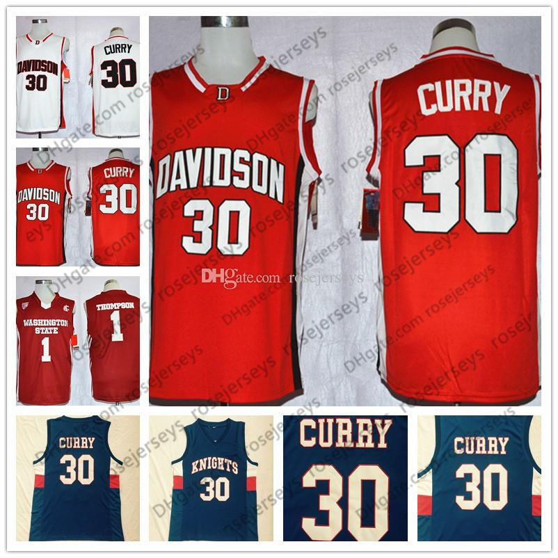 de103c025 ... jersey 44b60 c24d3  good davidson wildcats 30 stephen curry white  washington state cougars 1 klay thompson wsu red college