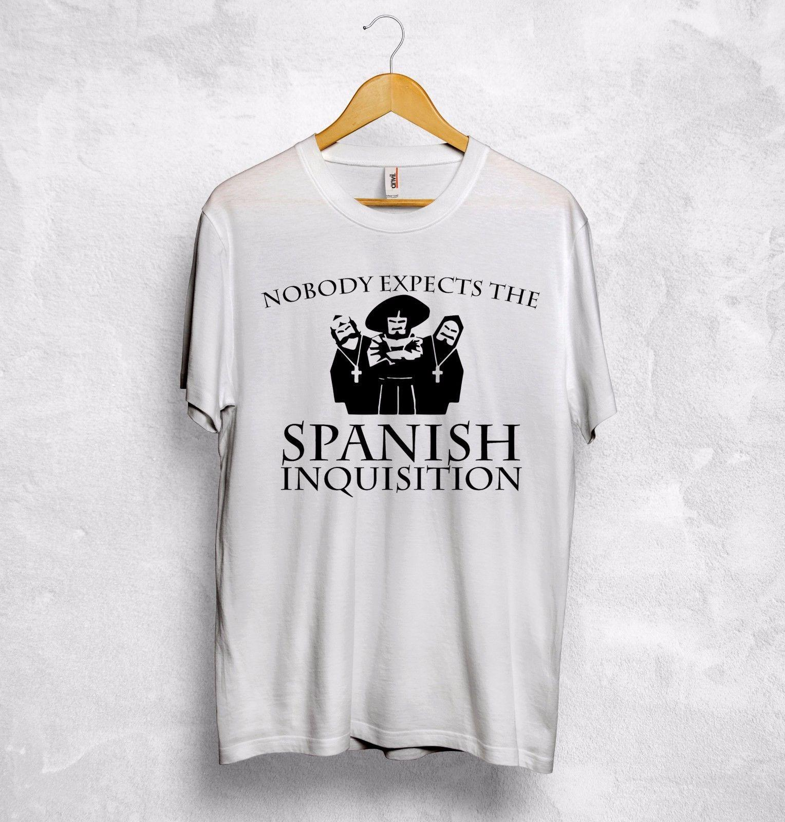 586c5ba9 Tops & Shirts Nobody Expects The Spanish Inquisition T Shirt Top Monty  Python's Flying Circus Men's Clothing
