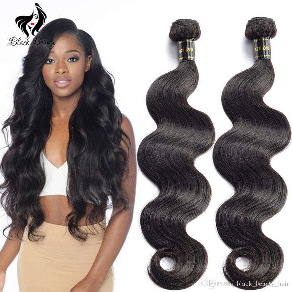Unprocessed Human Hair Brazilian Body Wave Sew In Soft And Thick