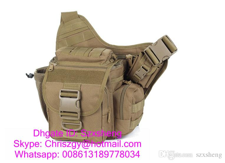 SINAIRSOFT 14 inches Outdoor Tactical Backpack Laptop Molle Men Nylon Sports Bag Shoulder Sling Waterproof Men's Travel Tactical Backpack