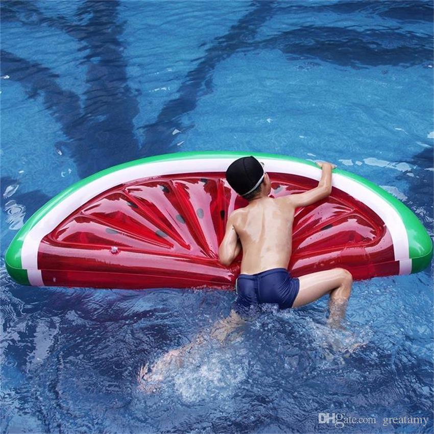 Géant gonflable pastèque tranche flottante ligne eau lit radeau swimmming piscine flotteur siège vente chaude de bonne qualité