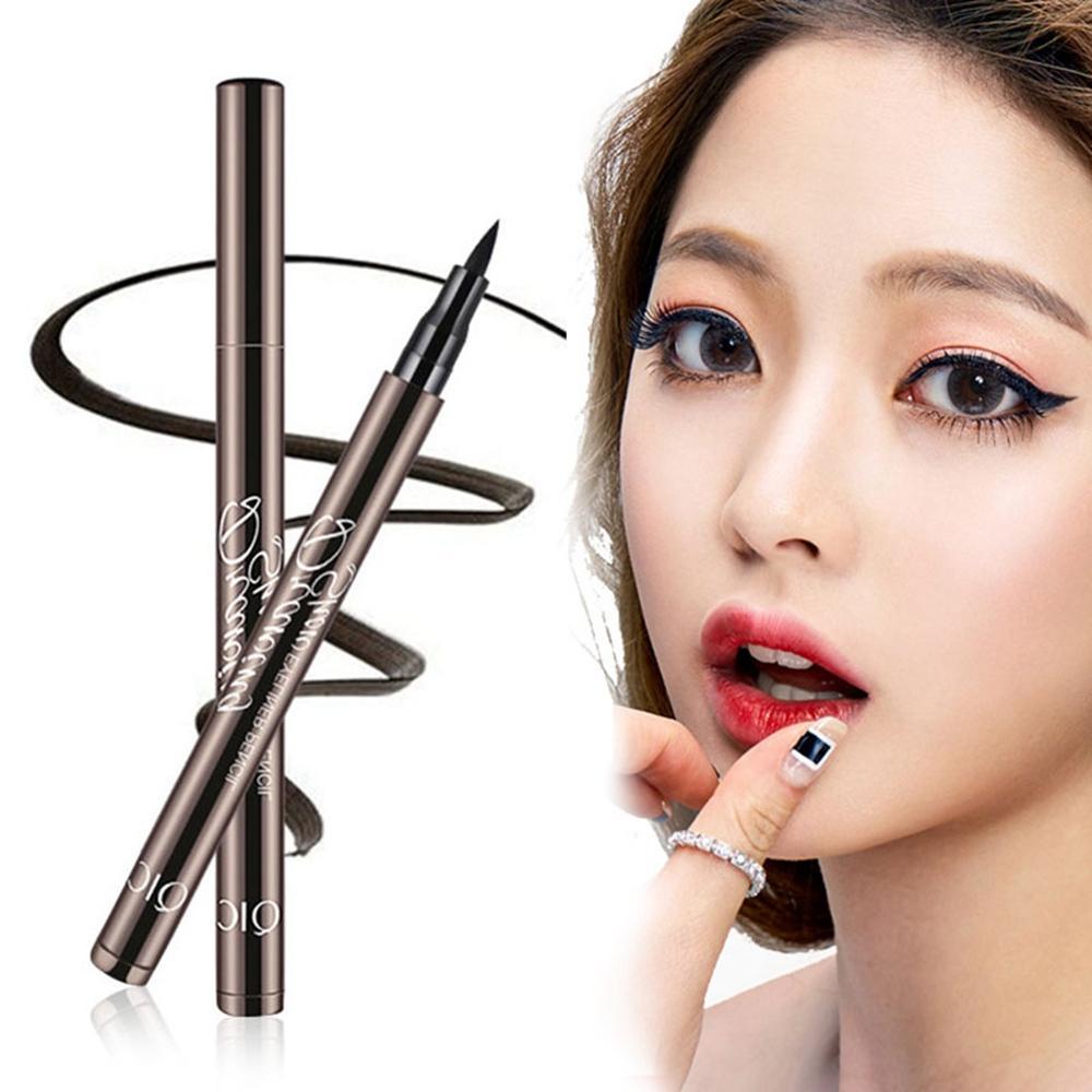 Easy To Wear Black Waterproof Pigment Liquid Eyeliner Lasting Makeup Eye Liner Pen+ Cat Line Eye Makeup Stencils Winged Eyeliner Elf Makeup From Yangti, ...