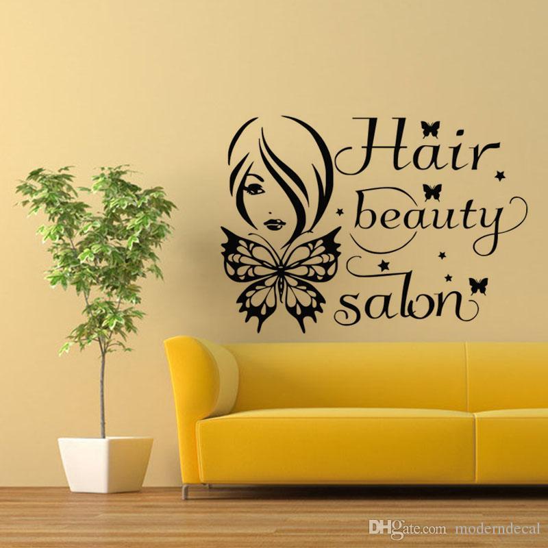 Hair Beauty Salon Wall Stickers Butterflies Stickers For Wall