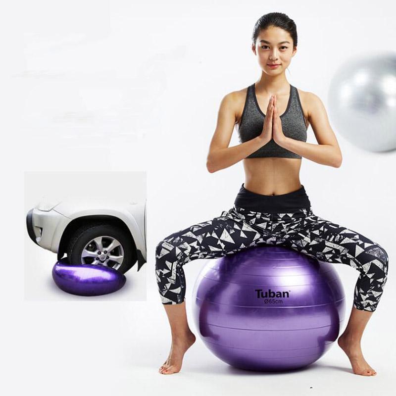 Compre 2018 Nueva 65cm Bola De La Yoga De La Aptitud De La Salud 5 Utilidad  Antideslizante Del Color Pilates Balancea Las Bolas De La Yoga Prueba De  Fitball ... 9e204784fc31