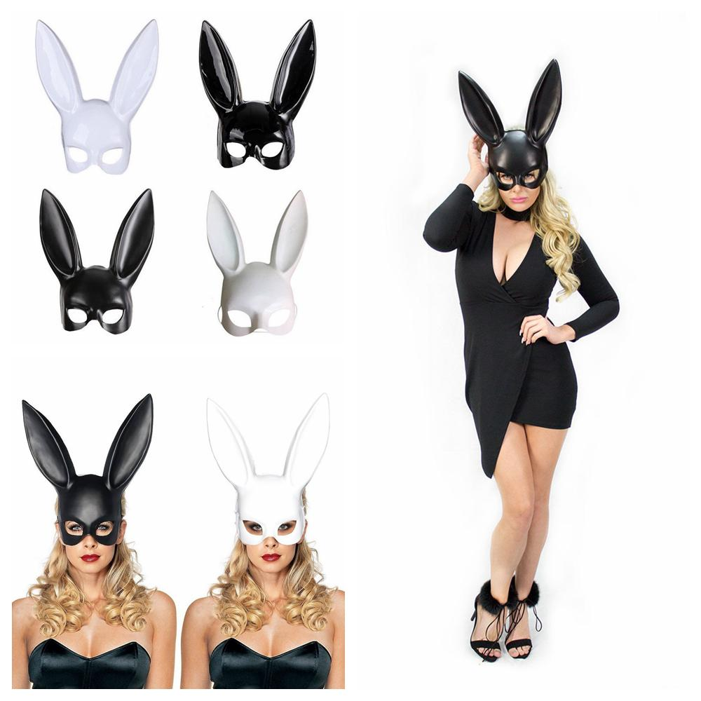 4styles Halloween Party Rabbit Ears Mask Masquerade Sexy Bunny Masks  Cosplay Costume Black White Carnival Halloween Decoration FFA745 Places To  Buy ...