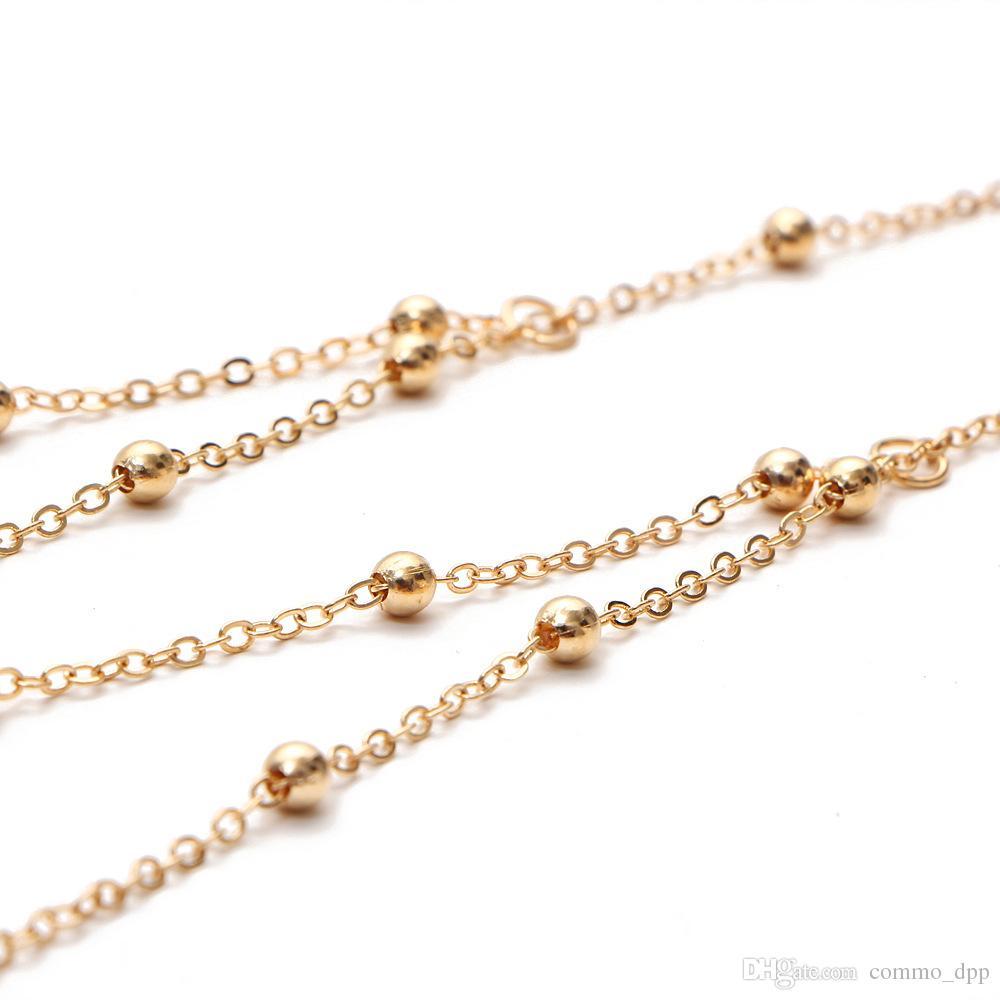 2018 Sexy Body Bra Chain mujeres Gold Silver chest Cintura Belly Chains para mujer Moda Beach bodychain Jewelry