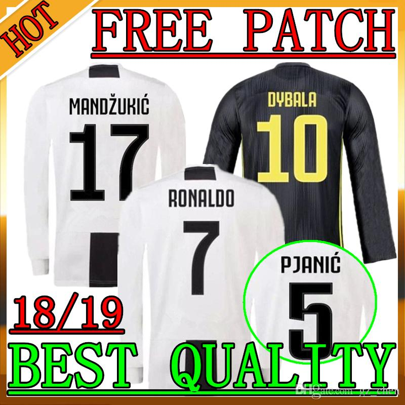 21d5cedd8bd 1819 Juventus Long Sleeve Soccer Jersey 1819 Juventus RONALDO ...