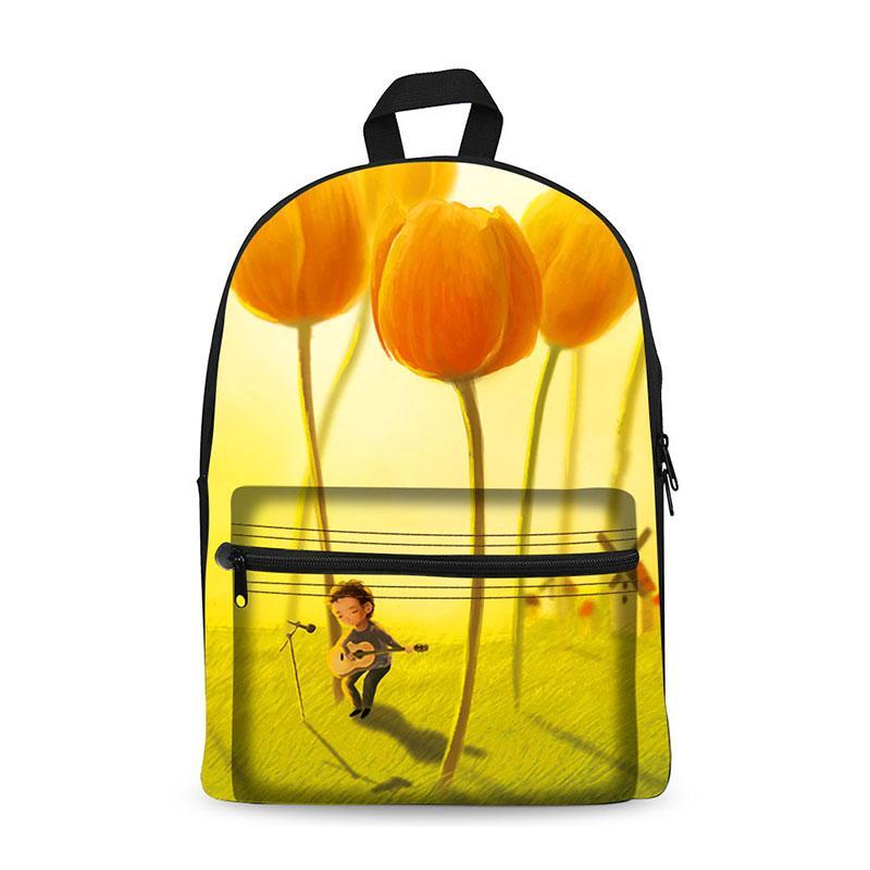 180edc12e860 ... Canvas Backpack Hot Sale Bag Foldable Backpack Rucksack Canvas Fabric  Material Bag Cartoon For Teenage Girls ...