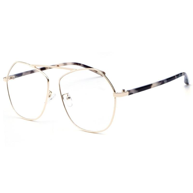 3741e4171d2 Cubojue Women s Glasses Men Irregular Polygon Eyeglasses Frame Star ...