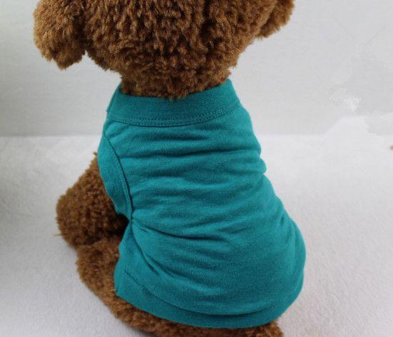 L'abbigliamento libero dell'estate del gatto di colore solido della maglietta del cucciolo del cane di animale domestico copre / XS-XXL