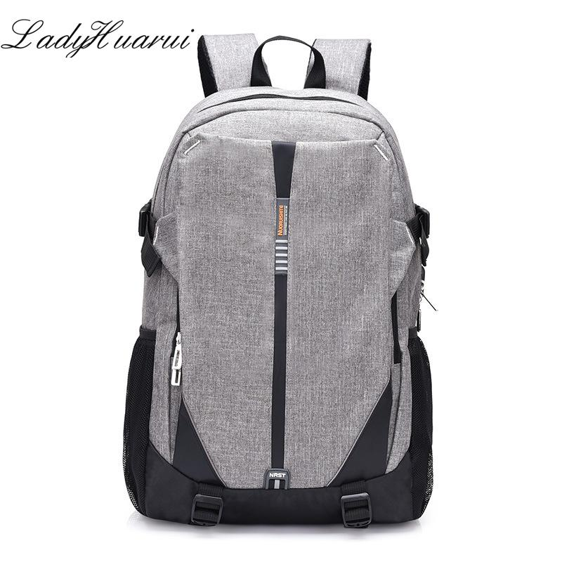 b1b641b14714 2018 High School Bags For Teenage Book Bag Teen Canvas Men Backpack Cool  Boys Girls USB Schoolbag Male Back Pack Laptop Women Hunting Backpacks  Gregory ...