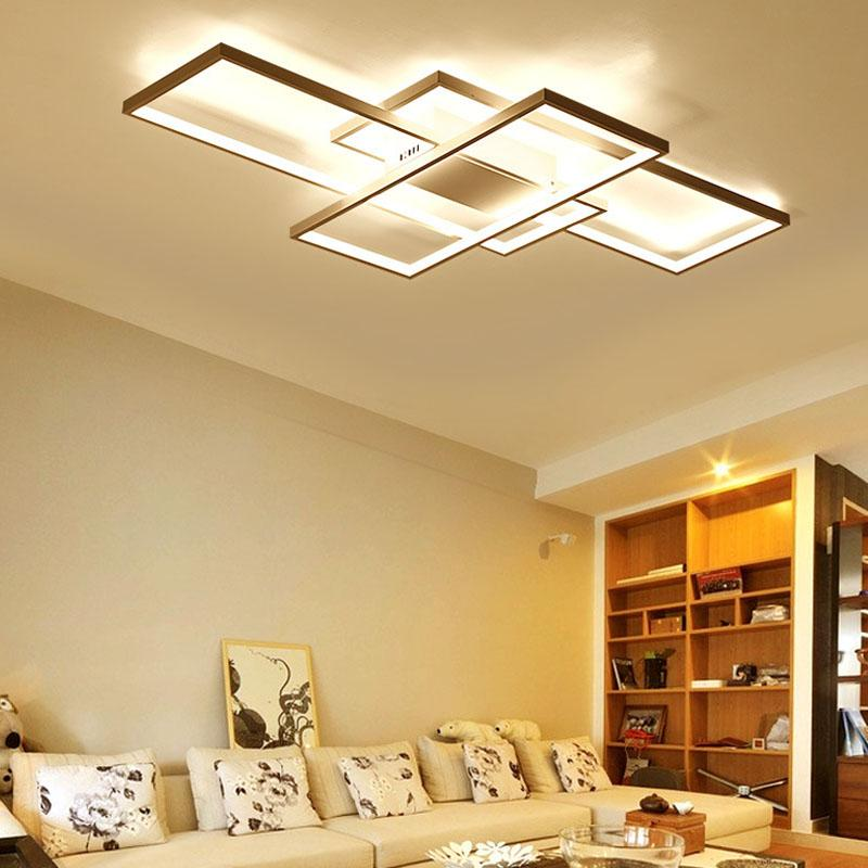 2019 Led Light Rectangle Aluminum Modern Ceiling Lights LED Mounted ...