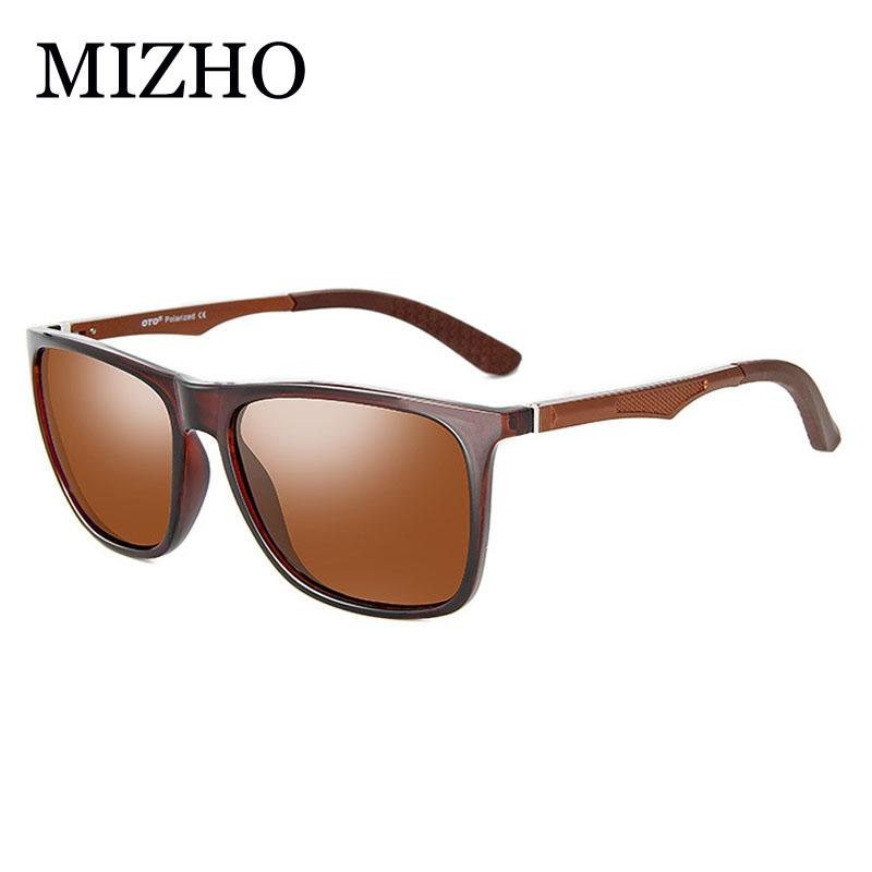5ac08415d4 MIZHO UV400 Polaroid Sunglasses Unisex Square Vintage Sun Glasses ...