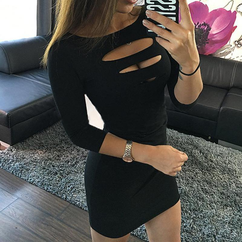 Robe Femme Sexy Women Casual Dress Black 2017 Fashion Ladies Cutout Short Sleeve Dresses Bodycon Dress Ukraine Vestido Plus Size