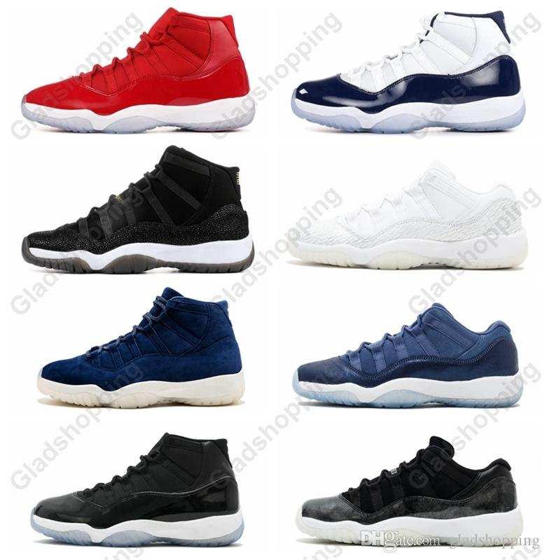 Mit Box 11 Gym Red Chicago Midnight Navy GEWINNEN SIE WIE 82 96 Space Jam 45 Herren Basketball-Schuhe 11s Heiress Sport Sneakers