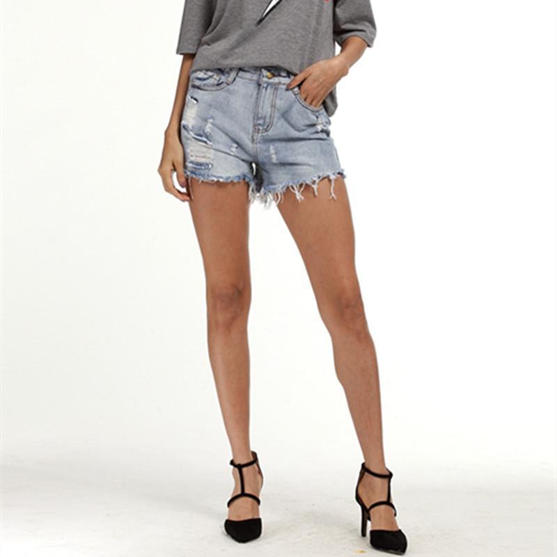 Europäischen Und Amerikanischen Sommer Wind Weibliche Blau Hohe Taille Denim Shorts Frauen Getragen Lose Grat Loch Jeans Shorts Buy One Give One Gepäck & Taschen