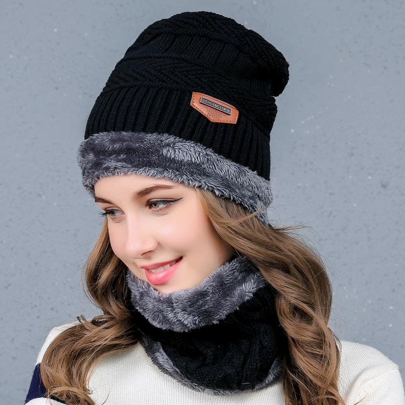 Winter Hat for Women Men Warm CapThick Scarf Skullies Beanies Wool ... ef67bafba