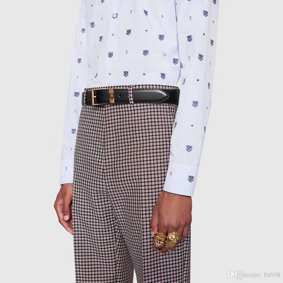 Motif vente Tiger boucle d'argent 2018 printemps et en été de mode en cuir véritable mens femmes ceinture designer ceintures pour cadeau
