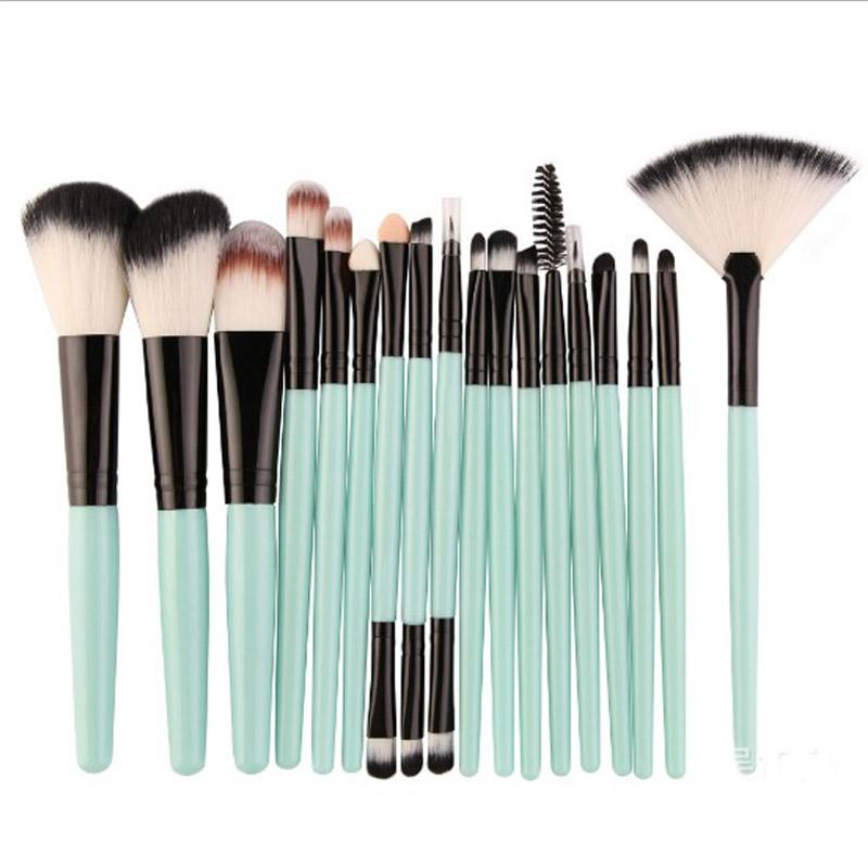 Makeup Brushes Set Kit Power Foundation Blush Eye Shadow Eyelash Eyeliner Lip Blending Fan Cosmetic Tools