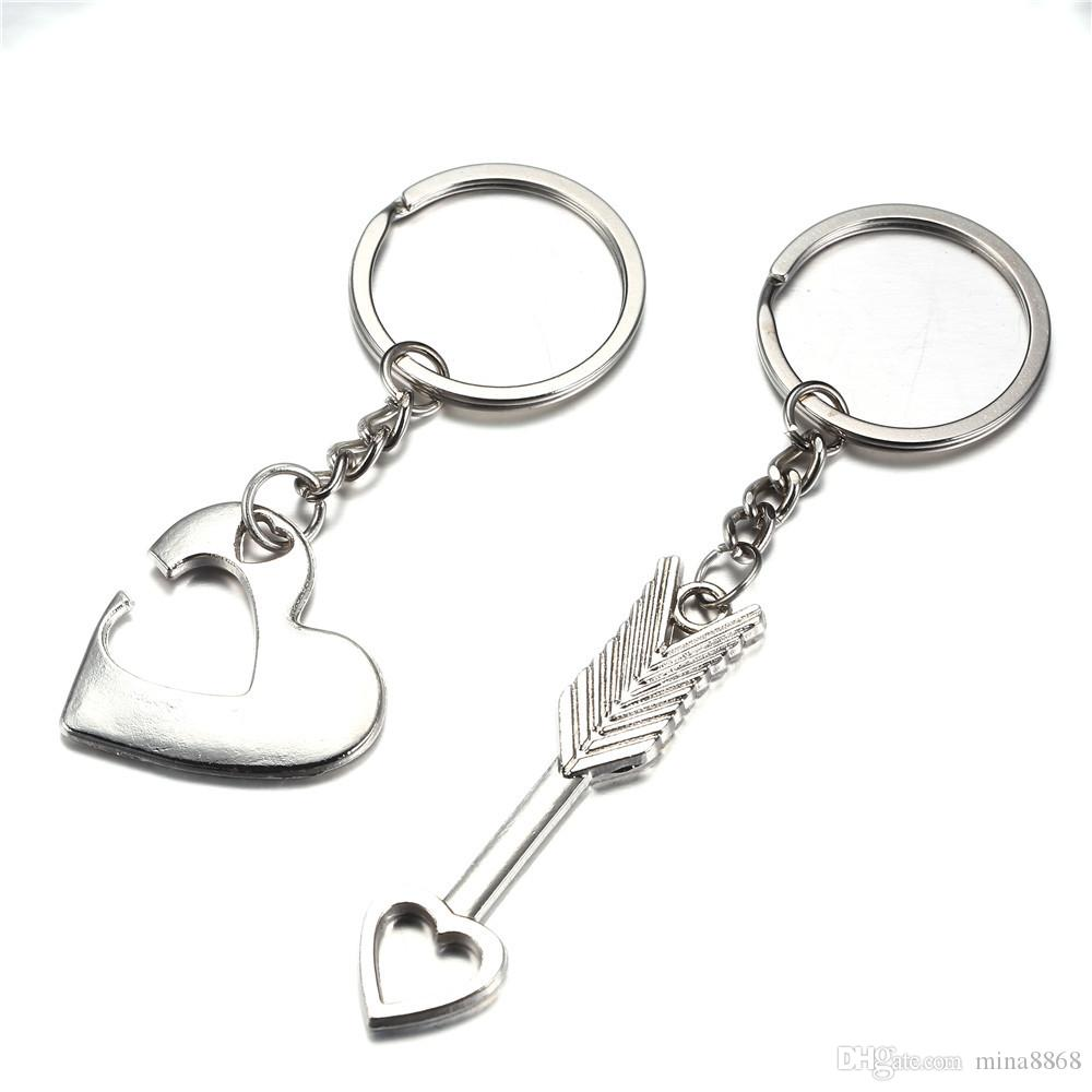 Hot Sales Fashion Alloy Arrow Heart Keyrings Key Chains For Lovers Gifts Couples  Keychain Romantic Creative Jewelry Gift UK 2019 From Mina8868 a65b23a1a471