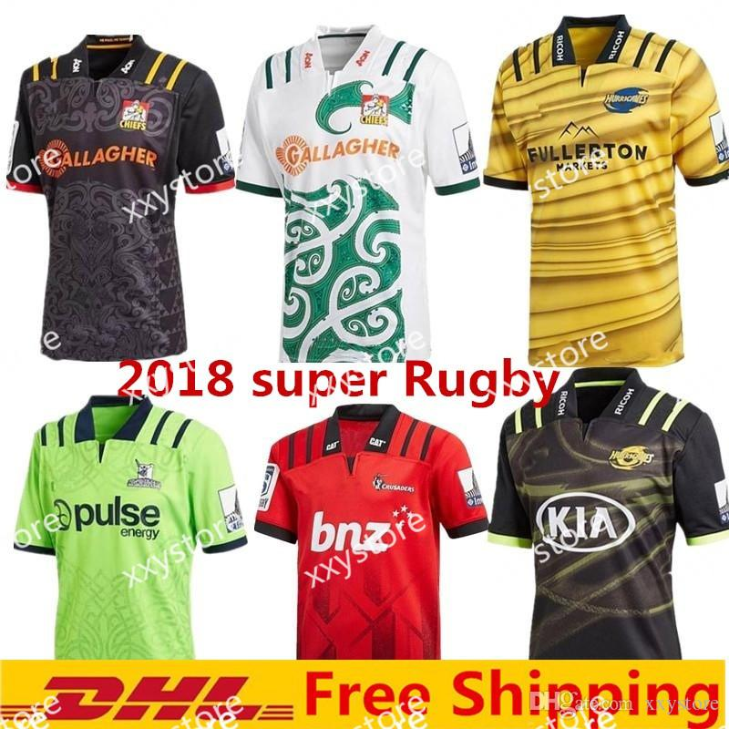 cffb3713c2a 2019 2018 Chiefs Super Rugby Jersey New Zealand Super Chiefs Blues  Hurricanes Crusaders Highlanders Shirts SIZE: S 3XL From Xxystore, $17.77 |  DHgate.Com