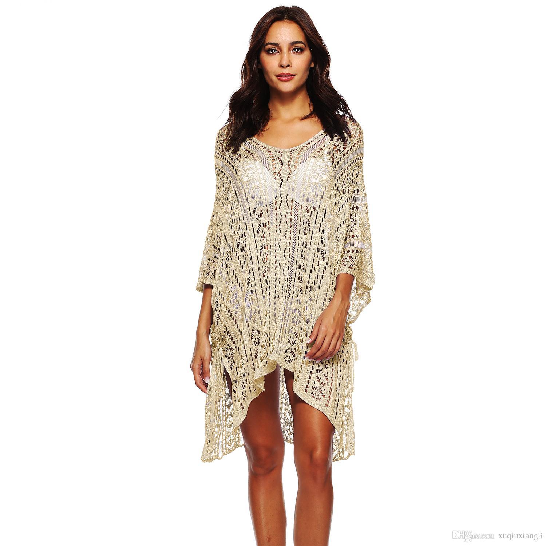 02443a4362a Chiffon Cover Up Beach Wear Beachwear Summer Kaftan Swimwear Dress White  Bikini Swinwear Bathing Suit Cover Up Plage Short Dress Formal Gowns From  ...