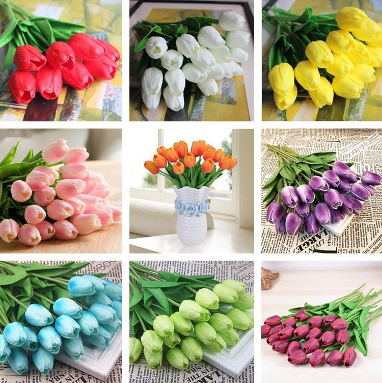 Grosshandel Bunte Tulpen Nachahmung Blume Pu Blume Hochzeit Festival