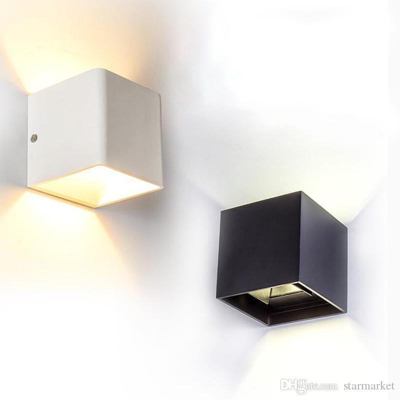 Acheter Indooroutdoor Etanche Lampe Murale 12w Noir Blanc Moderne