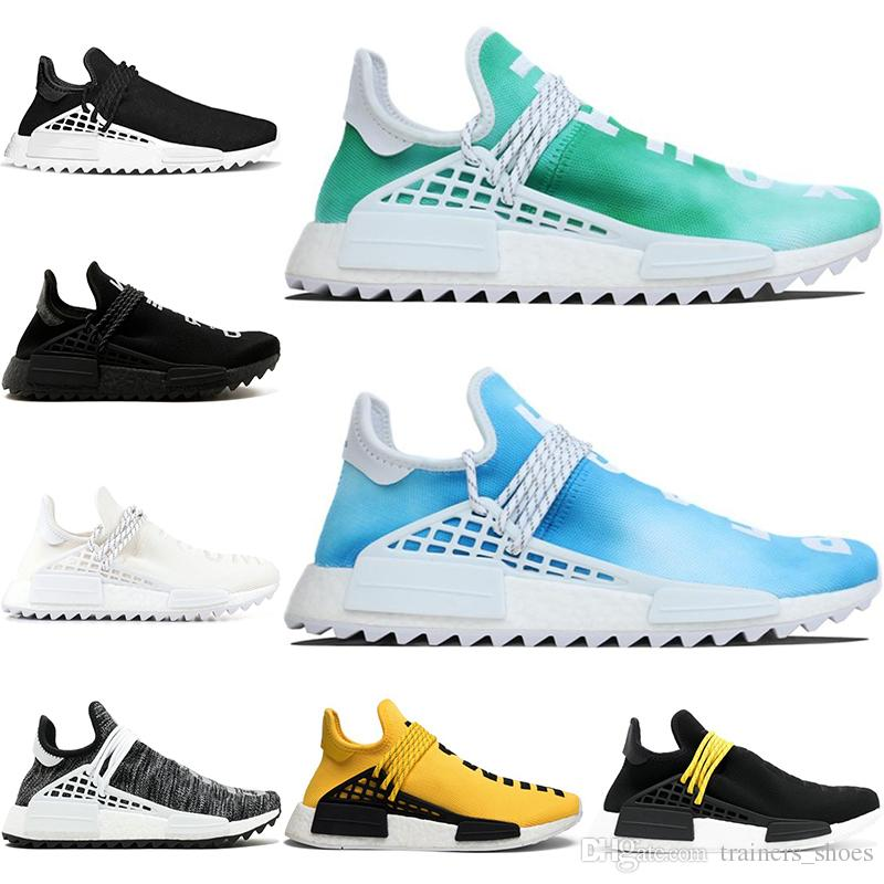abf554c9a Nerd Human Race Trail Running Shoes Pharrell Williams Hu Men Women Equality  Cream White Black Yellow Cheap Trainer Sports Sneaker Size 5 12 Running  Shoes ...