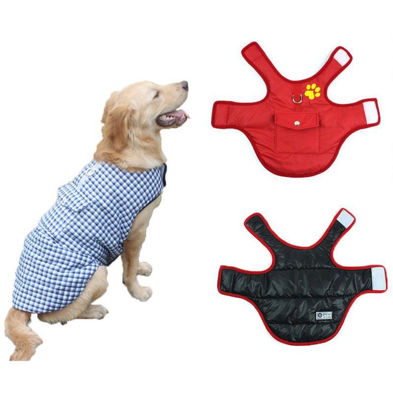 37448cbec41 Compre Ropa De Perro Caliente De Invierno Para Perros Pequeños Chaqueta Pug  Abrigos Para Perros Ropa De Gato Cachorro Chihuahua Bulldog Francés  Productos De ...