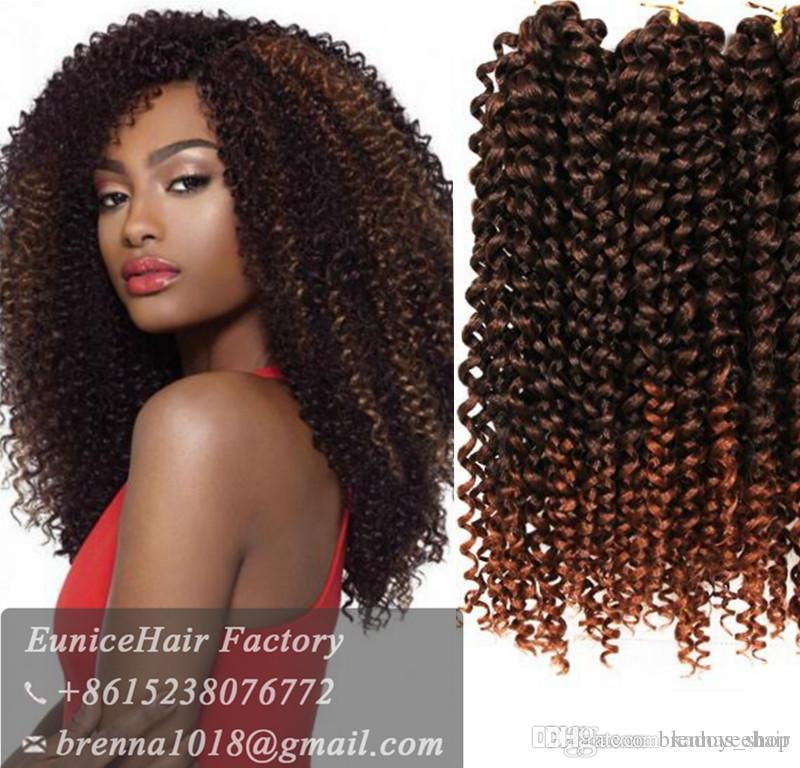 Synthetic Kinky Curly Crochet Braid Hair Premium Jerry Curly 10 Hair