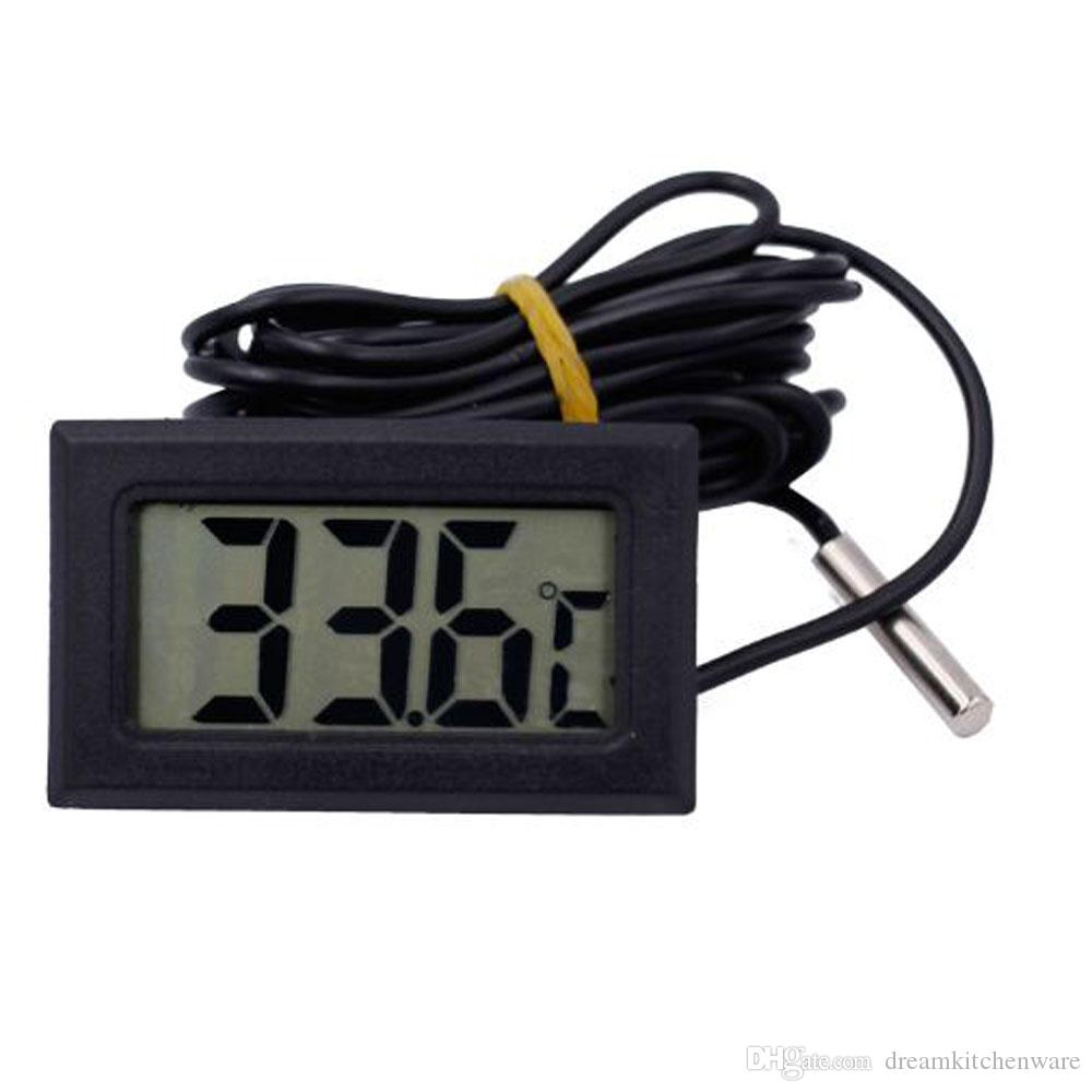Mini Digital LCD Thermometer With Probe Fridge Freezer Indoor Display Thermometer Sensor Meter kitchen tools
