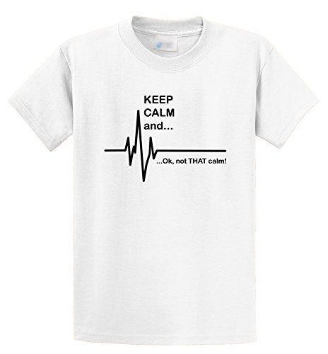5134c41a5 Men's Keep Calm & Ok Not That Calm Funny Paramedic EMT T-Shirt Rude Top Tee  Round Neck