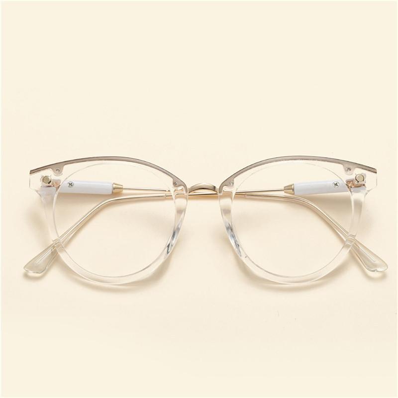e3ca09191c4ab Compre Cubojue Transparente Óculos Mulheres Rosa Lente Clara Óculos De  Armação Das Mulheres Para Prescrição Optical Nerd Pontos Feminino Eyewear  De Xailiang ...