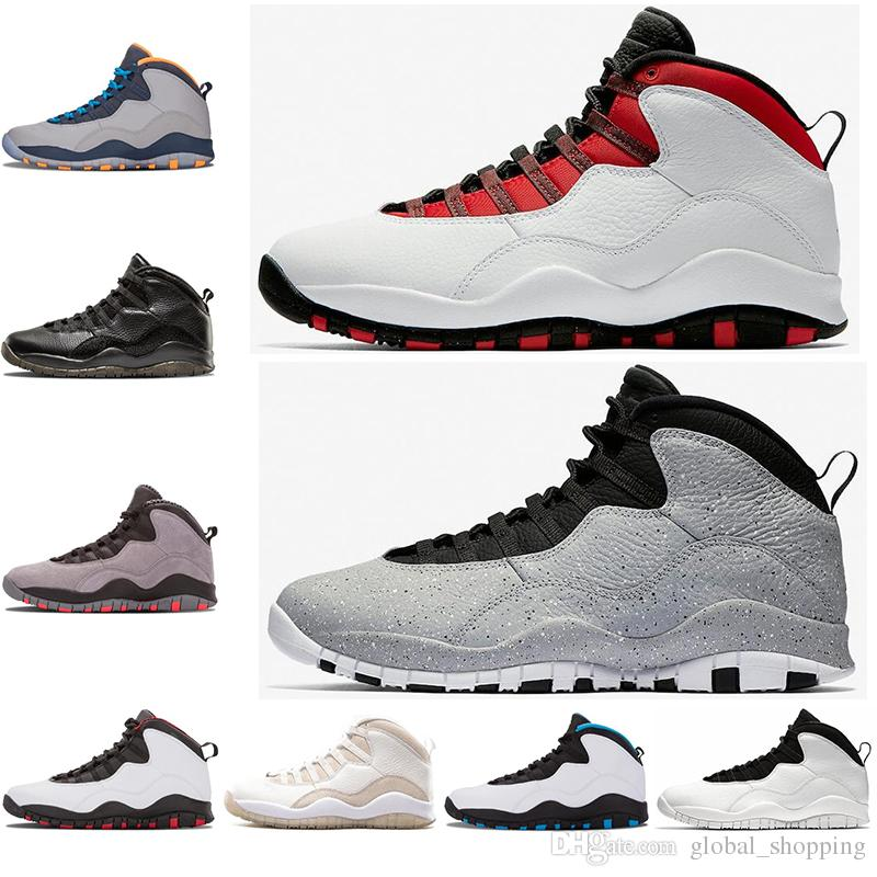 f4cda9f10494 Mens 10 Cement Bobcats Grey Red Chicage Cool Grey Iam Back Powder Blue  Basketball Shoes Classic 10s Athletic Sport Sneakers Size 7 13 Shoe Shops  Cheap ...