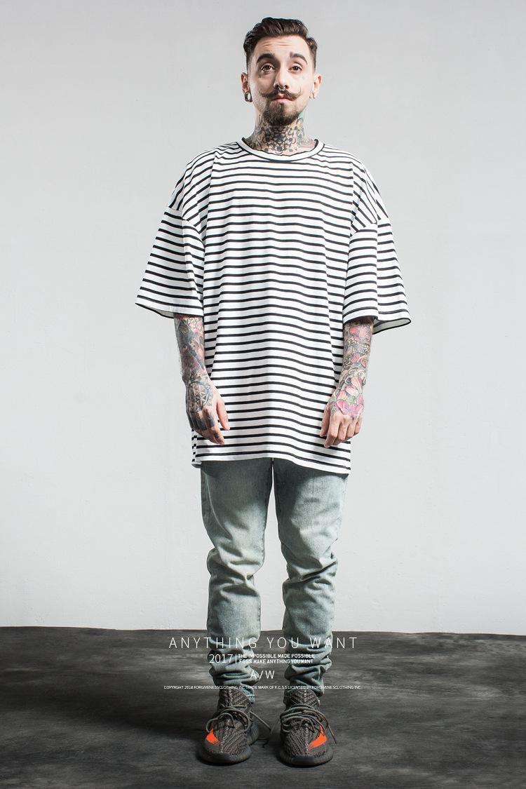 Acquista Maglietta Da Uomo In Cotone A Righe Hip Hop T Shirt FOG Maglietta  Allentata Di Alta Qualità Di Marca. Formato Asiatico M XL A  17.63 Dal  Aliegate ... 6c9e5d4fc3f7