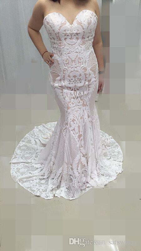 2018 Vintage Lace Mermaid Wedding Dress Turkey Vestido De Novia ...