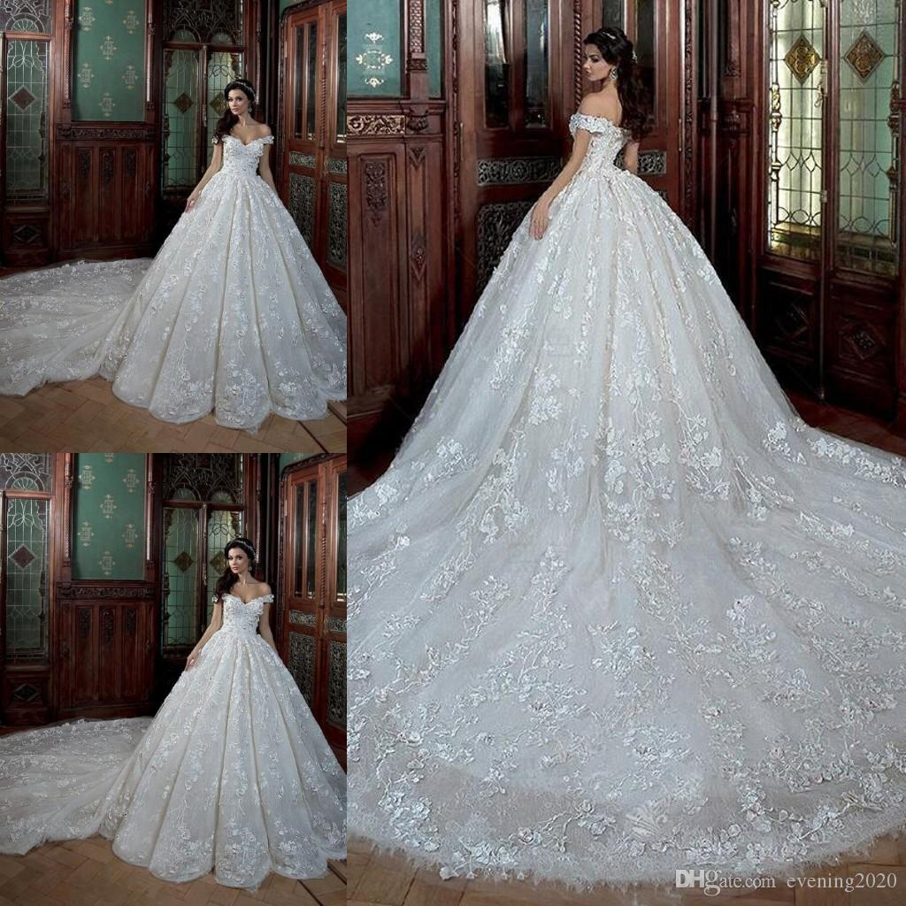 Discount Junoesque Plus Size A Line Wedding Dresses V Neck Off ...
