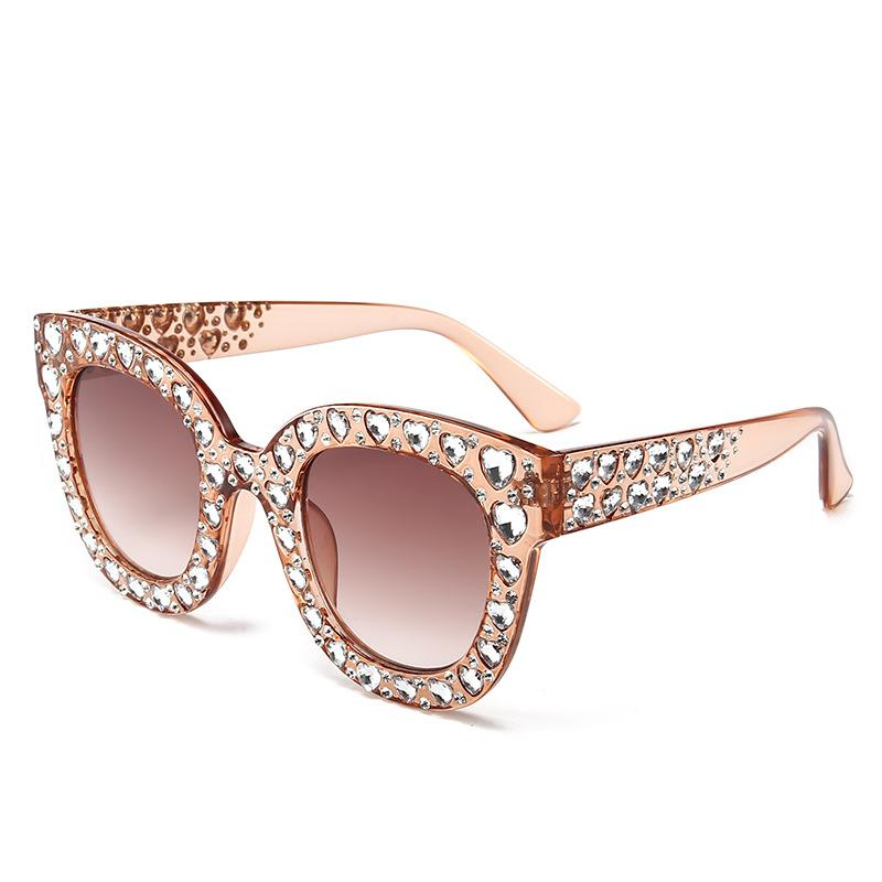 392fcc9c68c Benesse2018 Women Fashion Diamond Sunglasses Luxury Brand Designer Heart  Crystal Stone Ladies Cat Eye Eyewear Retro Sun Glasses Online with   33.66 Piece on ...