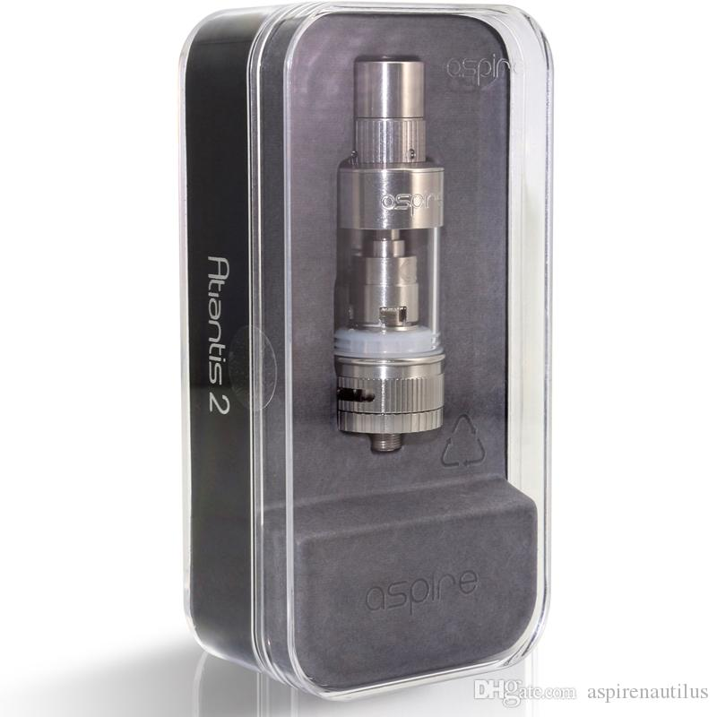 STOCK Authentic Aspire Atlantis 2.0 Atomizer Tank 3Ml Pyrex Glass Tube Adjustable Airflow Optimal Cooling Systems Aspire Atlantis 2