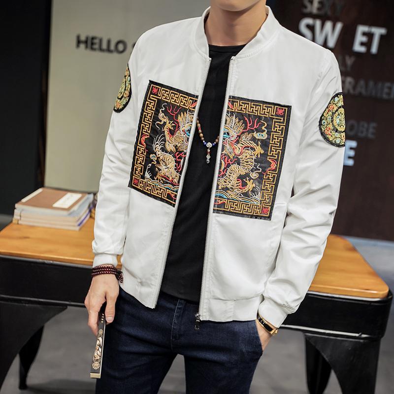 58c81597a4f Spring Bomber Jacket Men 2018 New Fashion Chinese Long Pao Jackets Men Slim  Fit Long Sleeve Casual Mens Coats Windbreaker 5XL M S914 Mens Nice Jackets  Fall ...