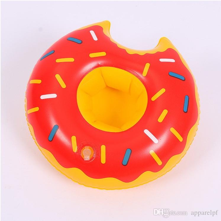 Inflatable toy Swim Floats Drink Cup Holder Donuts Summer Pool Party Beverage Donut Beach Phone Holder Swimming Supply